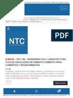 E-book – Ntc 160 – Ingenieria Civil y Arquitectura. Placas Onduladas de Asbesto-cemento Para Cubiertas y Revestimientos