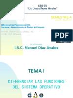 Tema I Diferenciar Las Funciones Del SO