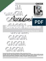 Gaggia_Accademia Service Manual