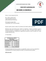 Informe Economico Circuito Jerusalen