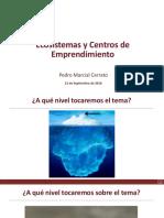 Ecosistemas y Centros de Emprendimiento