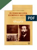El derecho civil en México 1821 - 1871 Ma. Refugio GONZÁLEZ Ha. Codificación