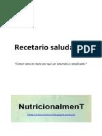 Recetario saludable