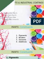 Paints Pigments Industrial Coatings