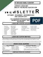 Moose Newsletter Oct Nov Dec 2015 and Jan 2017
