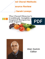 The Choral Director's Cookbook