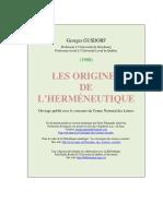 GUSDORF, Georges - Les origines de l'herméneutique.pdf