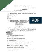 CUESTIONARIO      PROCESOS ADMINISTRATIVOS