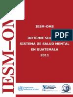 Informe sobre el estado de salud en Guatemala