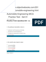 Automobile Engineering MCQ Practice Test