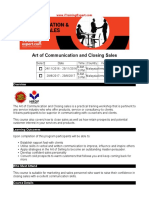 Art of Communication and Closing Sales