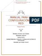 Manual Para La Configuración de Una Red