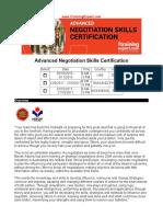 Advanced Negotiation Skills Certification
