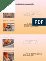 Proceso Constructivo de Muro o Pantalla