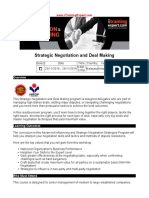 Strategic Negotiation and Deal Making