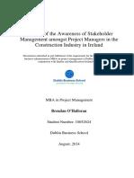 BrendanOHalloran 10052624 Dissertation FINAL