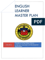 MASTER PLAN FOR ENGLISH LEARNERS