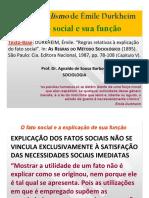 (6) O Funcionalismo de Durkheim - o Fato Social e Sua Função
