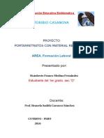 Proyecto Portaretrato Material Reciclable Primaria 2016