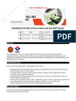 Handling Full Set of Accounts and the GST Factor