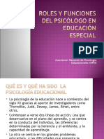 Roles y Funciones Del Psicc3b3logo en Educacic3b3n Especial