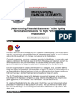 Understanding Financial Statements to Set Up Key Perfomance Indicators for High Performance Organisation
