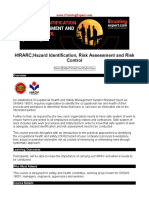 HIRARC - Hazard Identification Risk Assessment and Risk Control