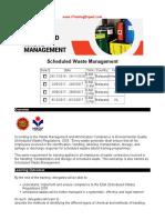 Scheduled Waste Management
