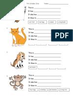 Animals Worksheet 1
