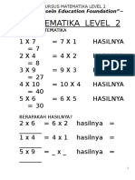Buku Matematika Level 2