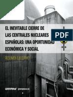 El Inevitable Cierre de Las Centrales Nucleares Españolas Una Oportunidad Económica y Social