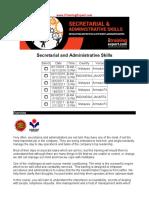 Secretarial and Administrative Skills