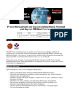 Project Management and Implementation - Going Practical and Beyond PMI Best Practices