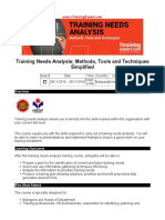 Training Needs Analysis Methods Tools and Techniques Simplified