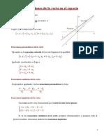 Ecuaciones de La Recta y El Plano en El Espacio (1)