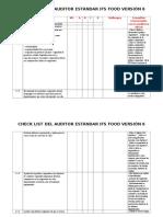 2. Check List IFS Food Versión 6.