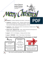 Christmas 09-10 Schedule ENGLISH