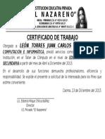 Certificado Nazareno