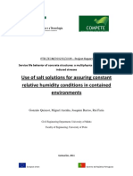 Use of Salt Solutions for Assuring Constant Relative Humidity Conditions in Contained Environments