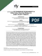 Becker (2013) Discovering Unobserved Heterogeneity in SEM