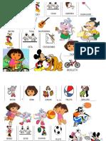Oraciones Mickey y Dora La Exploradora