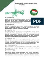 Detik-Detik Resolusi Jihad