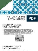 Historia de Los Restaurantes