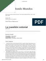 Unidad 1 Texto 5 GARAVAGLIA La Cuestión Colonial