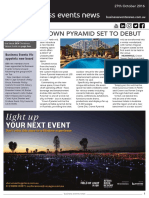 Business Events News for Thu 27 Oct 2016 - Crown Pyramid debut, Business Events Victoria appoints new board members, Northern Territory Convention Bureau, Tourism New Zealand, Hilton Brisbane, GEMS expansion and much more