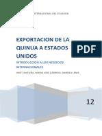 97158155 Trabajo Final de Negocios Internacionales Producto Quinua