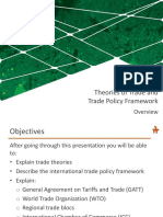 2 Theories of Trade & Trade Policy Framework
