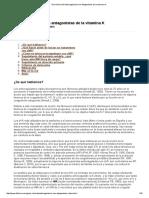 Guía Clínica de Anticoagulación Con Antagonistas de La Vitamina K