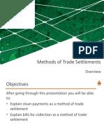4 Methods of Trade Settlements