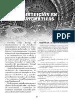La Intuición en Matematicas